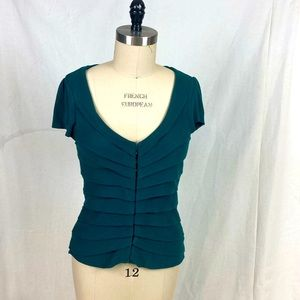 Anthropologie sparrow emerald cotton top w/ hooks
